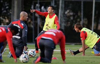 На тренировке сборной Чили