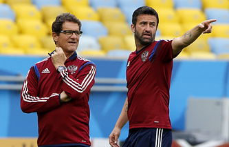 Фабио Капелло и Кристиан Пануччи (справа)