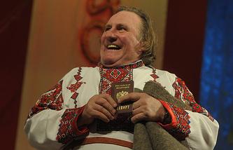Жерар Депардье в Саранске. 2013 год