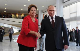Владимир Путин и Дилма Роуссефф