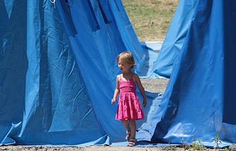 Лагерь беженцев с юго-востока Украины