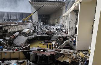 Саяно-Шушенская ГЭС после аварии. Архив