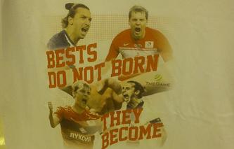 Футболка, в которой Артем Дзюба выйдет на матч между сборными России и Швеции