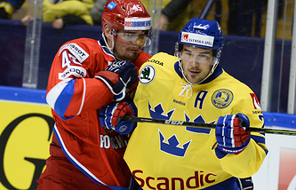 Эпизод матча Швеция - Россия