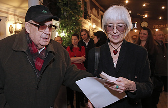 Эльдар Рязанов с супругой Эммой