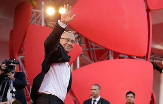 Андрей Кончаловский на Венецианском кинофестивале, 6 сентября 2014 года