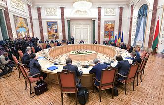 Встреча лидеров Таможенного союза, Украины и представителей ЕС в Минске, 2014 год