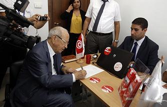 "Лидер светской партии ""Нидаа Тунис"" Бежи Каид ас-Себси"
