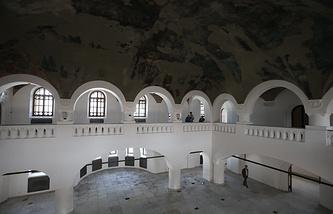 Реставрация Ратной палаты в Царском селе