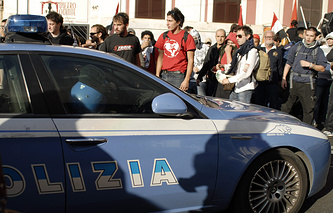 Протесты в Италии, архивное фото