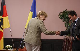 Федеральный канцлер Германии Ангела Меркель и министр иностранных дел Украины Павел Климкин