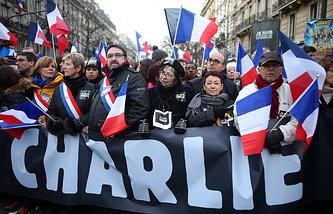 Марш единства в память о жертвах терактов в Париже