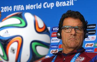 Фабио Капелло во время чемпионата мира по футболу в Бразилии