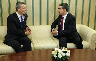 Генеральный секретарь НАТО Йенс Столтенберг и президент Росен Плевнелиев