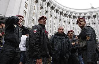 Бойцы Первого батальона Национальной гвардии Украины