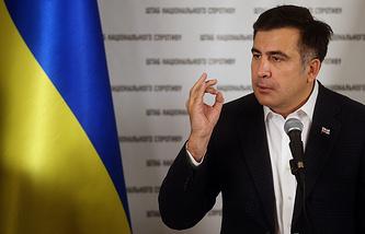 Михаил Саакашвили во время пресс-конференции в Киеве, 2013 год