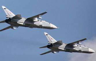 Бомбардировщики СУ-24М