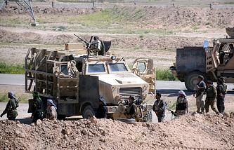 Силы иракской армии в окрестностях Тикрита