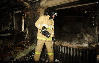 На месте взрыва газа в пятиэтажном жилом доме