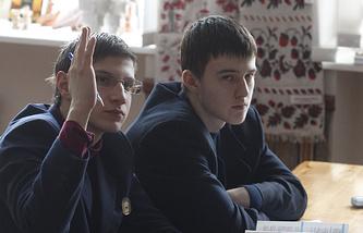 Урок в украинской школе