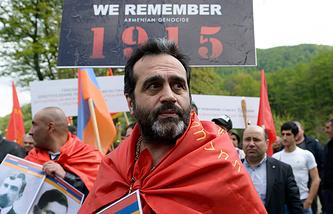 В день памяти жертв геноцида армян в Османской империи. Армянское село Альтмец (Нор Луйс)