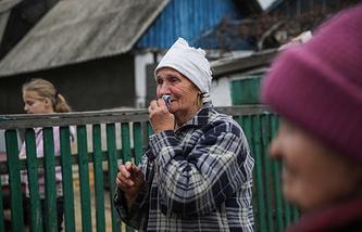 Последствия обстрела Петровского района Донецка, архив