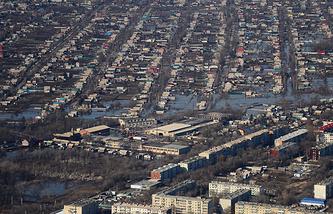 Подтопленные поселки на территории Спасского района