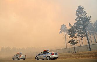 Лесные пожары в селе Смоленка Забайкальского края