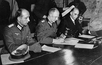 Подписание Акта о безоговорочной капитуляции Германии, 7 мая 1945 года