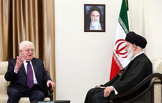 Президент Ирака Фуад Маасум и лидер ИРИ аятолла Али Хаменеи