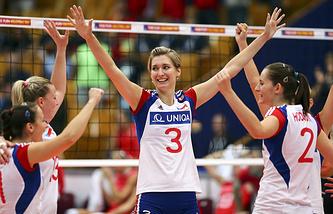 Игроки женской сборной Чехии по волейболу