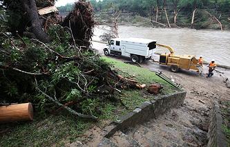 Последствия наводнения в штате Техас