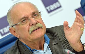 Никита Михалков во время пресс-конференции в ТАСС