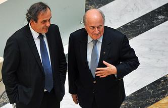 Мишель Платини и Йозеф Блаттер (слева направо)