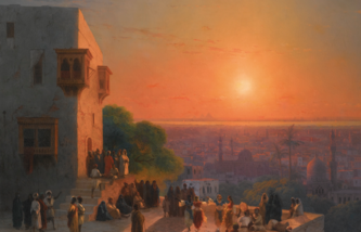 """Картина """"Вечер в Каире"""" Ивана Айвазовского"""