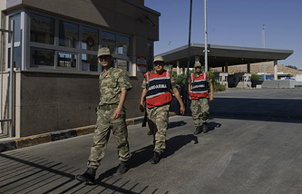 Пропускной пункт на турецко-сирийской границе