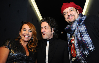 Певица Жанна Фриске, ювелир Стивен Вебстер и Филипп Киркоров, 2009 год