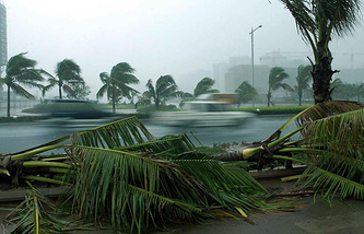 Архив. Тайфун в провинции Хайнань