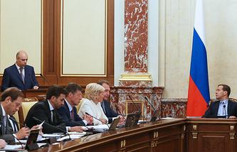 На заседании правительства РФ