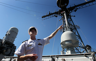 Крейсер ВМС США с ракетным комплексом Aegis