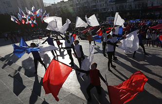 Празднование годовщины референдума о присоединении Крыма к России, 16 марта 2015 года
