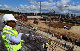 """Работы по строительству стадиона """"Мордовия Арена"""" для проведения матчей чемпионата мира по футболу 2018 года"""