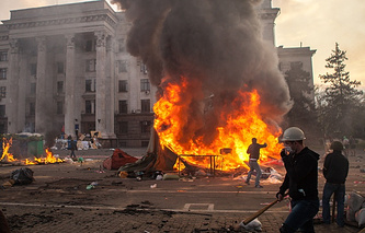 Во время беспорядков в Одессе, 2 мая 2014 года