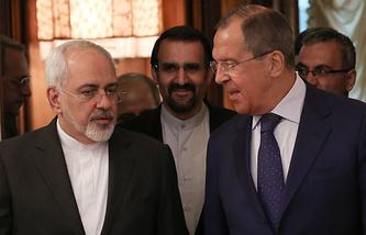Министр иностранных дел Ирана Джавад Зариф и министр иностранных дел России Сергей Лавров