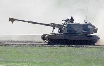 """Самоходная артиллерийская установка """"МСТА-С"""""""