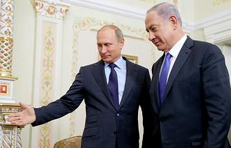 Президент РФ Владимир Путин и премьер-министр Израиля Биньямин Нетаньяху
