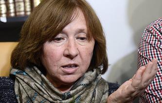 Лауреат Нобелевской премии по литературе 2015 года писательница Светлана Алексиевич