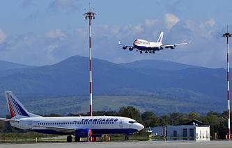 "Самолет Boeing 747 компании ""Трансаэро"