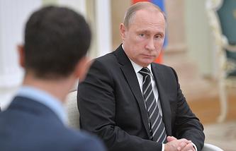 Президент РФ Владимир Путин во время встречи с президентом Сирии Башаром Асадом в Кремле