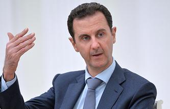 Президент Сирии Башар Асад во время встречи с президентом РФ В.Путиным в Кремле